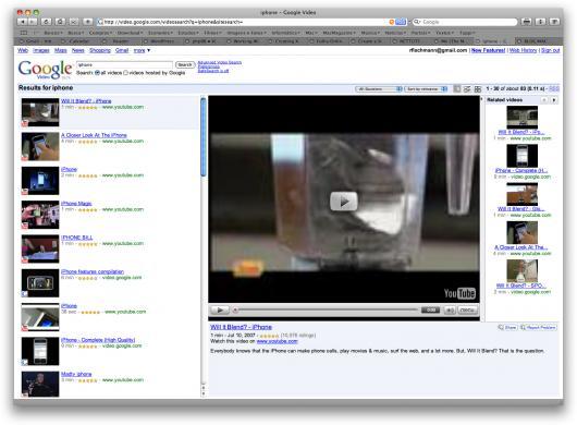 TV view no Google Video