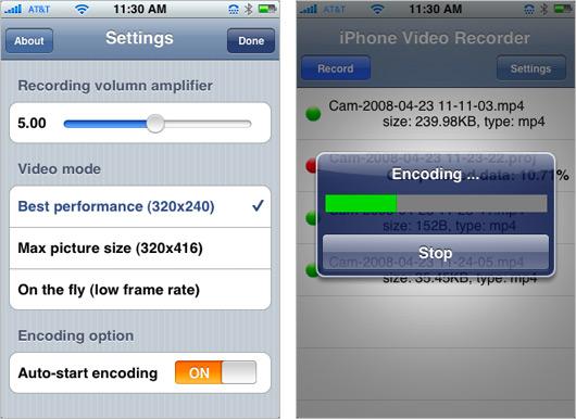 iPhone Video Recorder