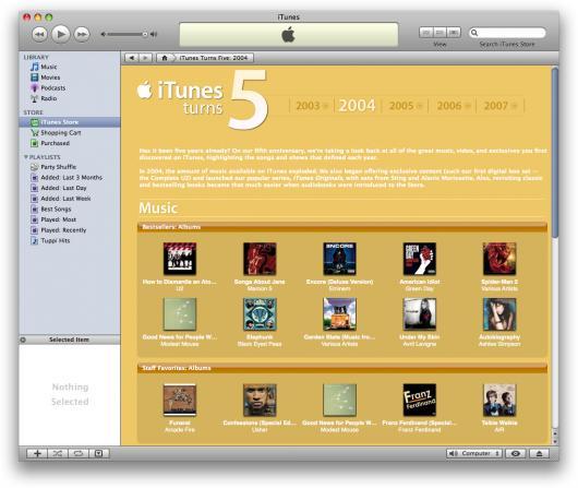5 anos da iTunes Store