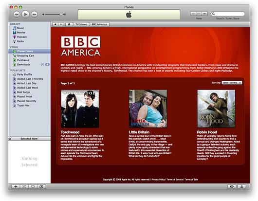 BBC na iTunes dos EUA