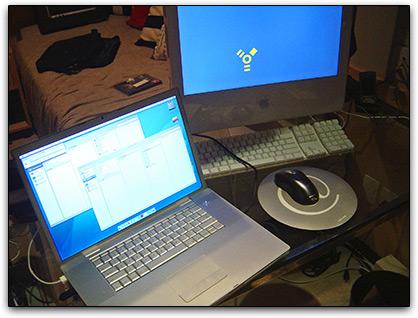 Meu setup: MacBook Pro e iMac G5
