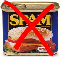 Não ao spam!