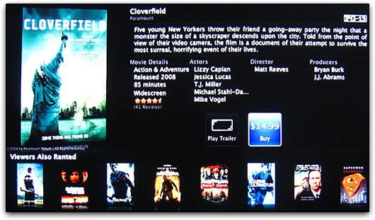 Compre filmes via Apple TVs