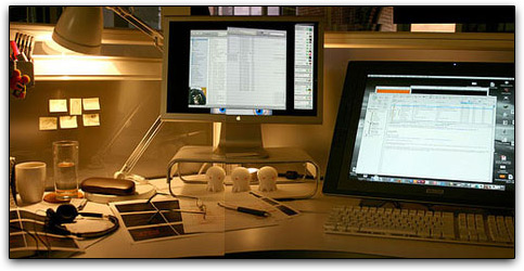 Galeria de setups com Macs
