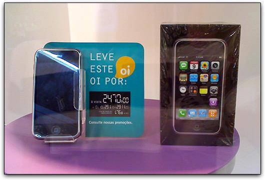 iPhone à venda em loja da Oi em Maceió