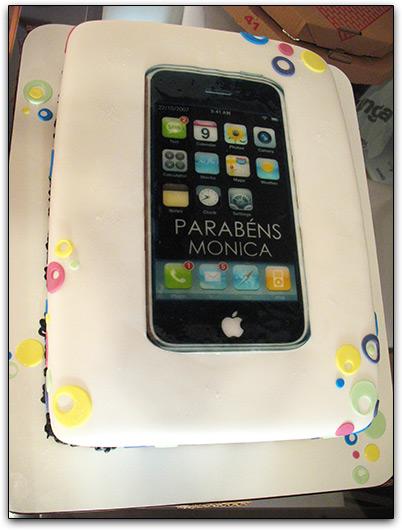 Bolo de iPhone da Monica