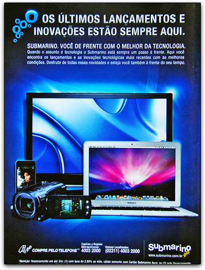 Catálogo Submarino com Macs