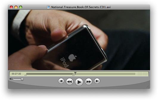 "iPod no filme \""A Lenda do Tesouro Perdido\"""