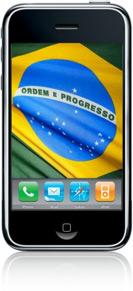 iPhone com a bandeira do Brasil