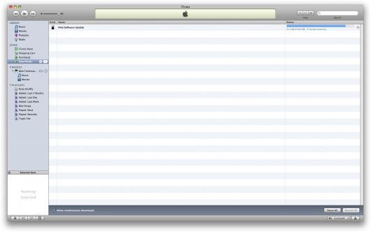 Baixando atualização de firmware para o iPod nano