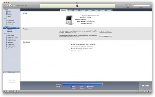 iPod nano pronto pra uso!