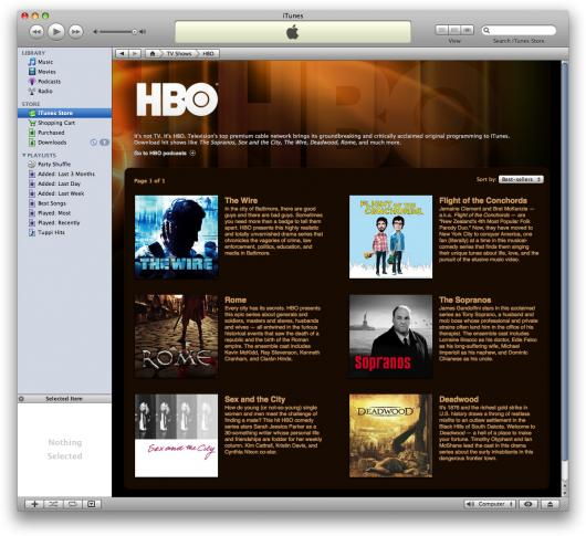 HBO na iTunes Store