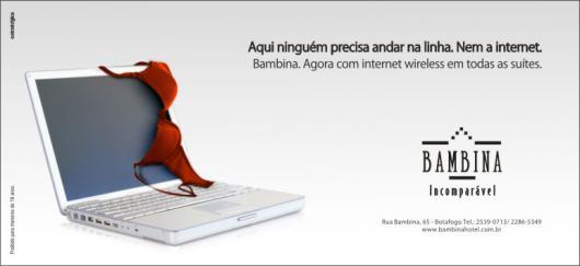 Propaganda do motel Bamina com PowerBook G4