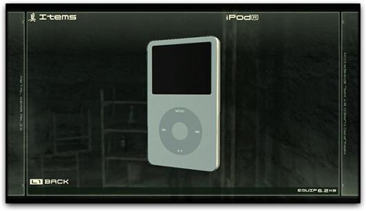 iPod em Metal Gear Solid 4
