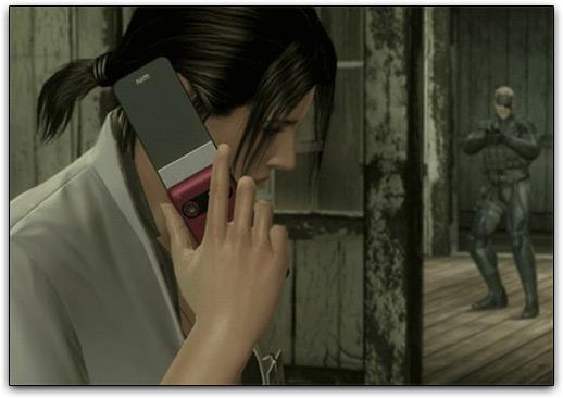 Sony Ericsson em Metal Gear Solid 4