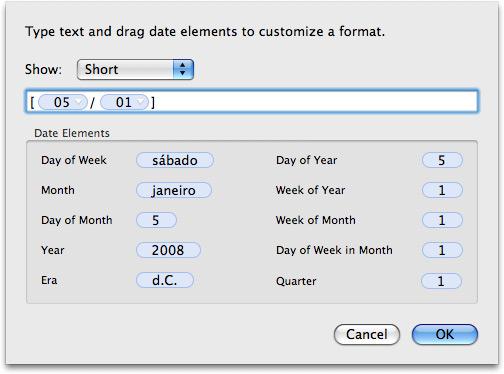 Customizando a data na barra de menus do Mac OS X
