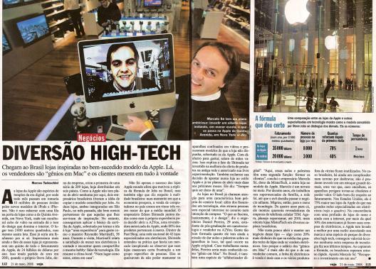 Veja fala sobre as lojas da Apple no Brasil
