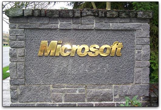 Entrada da Microsoft