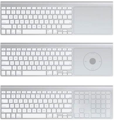 Mock-up de teclado multi-touch para Apple TVs