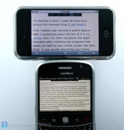 iPhone vs. BlackBerry Bold