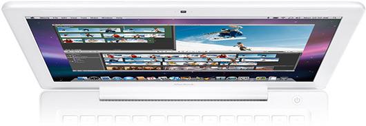 Visão superior do display de MacBook