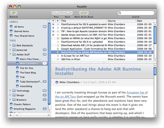 ReadAir no Mac OS X