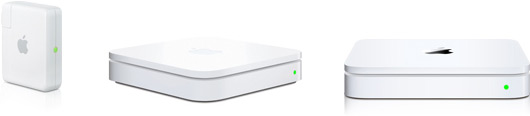 AirPort Express, AirPort Extreme e Time Capsule