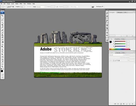 Adobe Photoshop CS4 Stonehenge