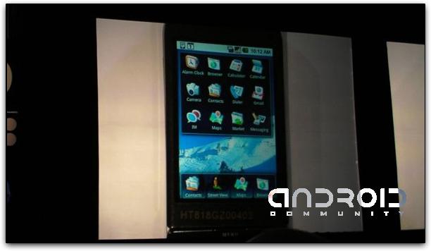 Tela Principal do Google Android