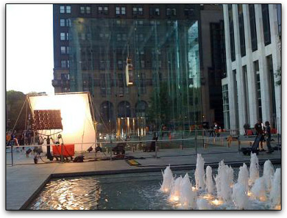 Apple filma comercial em NYC