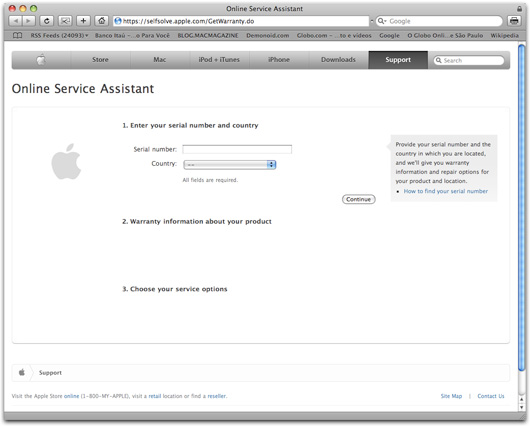 Garantia Apple