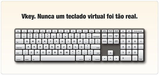 Teclado virtual da Apek