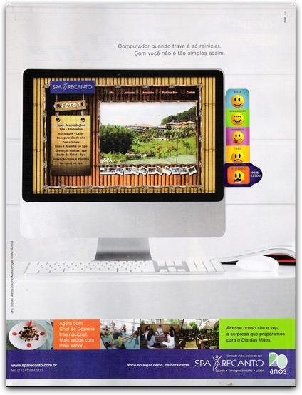 iMac em propaganda do Spa Recanto