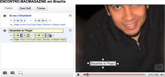 YouTube Video Annotations: notas