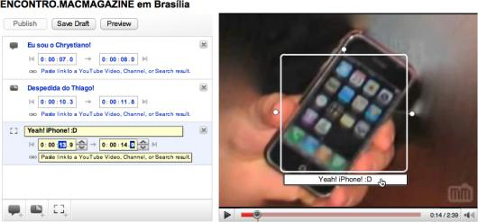 YouTube Video Annotations: destaques