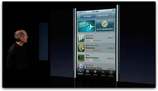 Steve Jobs e a iTunes App Store