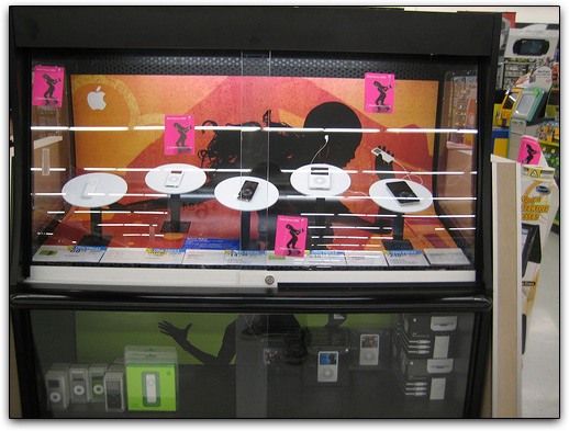 iPods à venda em loja da rede varejista Wal-Mart