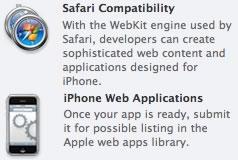 Avisos sobre os web apps