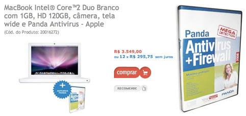 MacBook mais antí-virus Panda