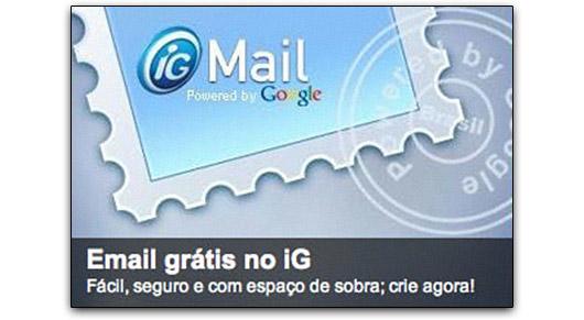 Destaque para o iG Mail