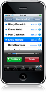 Visual Voicemail no primeiro iPhone