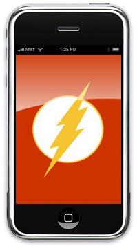 iPhone com raio flash