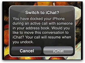 Conceito de iChat integrado a iPhones