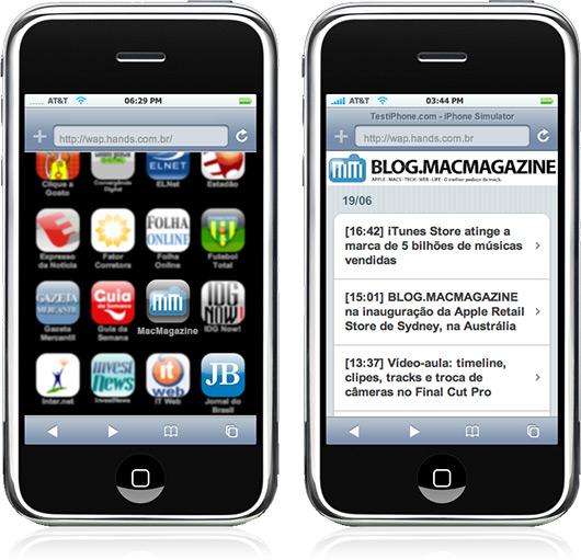 BLOG.MACMAGAZINE em iPhones pela Hands