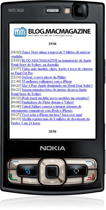 BLOG.MACMAGAZINE em Nokia N95 pela Hands