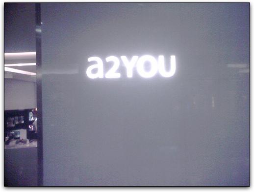 Fachada da a2YOU, no Shopping Market Place