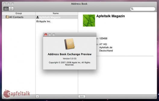 Address Book com suporte ao Exchange
