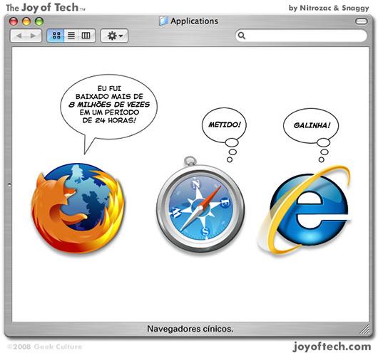 Joy of Tech: o Firefox se entrega ao mundo