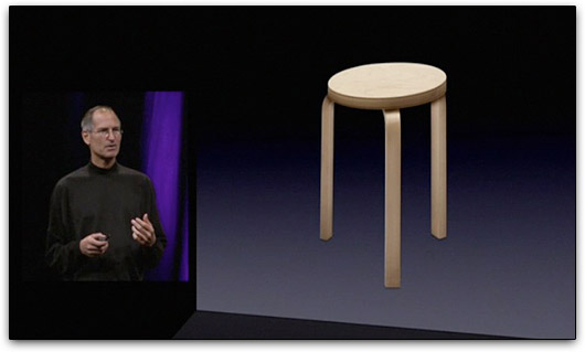 Steve Jobs durante apresentação na WWDC