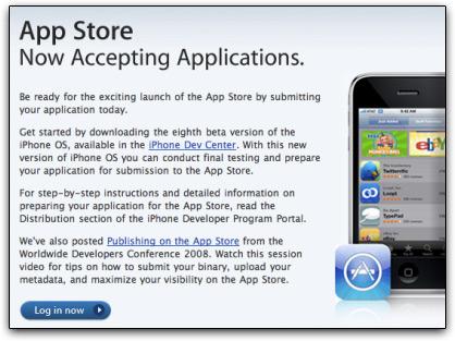 iTunes App Store aceita aplicativos